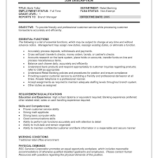 Objective For Resume For Bank Job Resume objective for bank job Free Resumes Tips 98