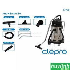 Máy hút bụi công nghiệp Clepro S3/60 - 60 lít - 3 motor - 3600W