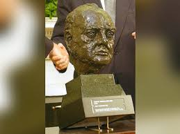 barak obama oval office golds. photodetail of the bust british prime minister winston churchill that was presented to barak obama oval office golds