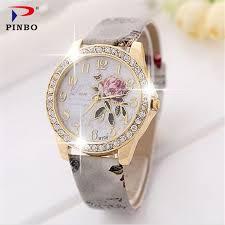 <b>The rose series</b> PINBO women luxury brand quartz colock watch ...