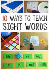 Fry Sight Word Activities Simple Sight Word Activities Fry Sight ...