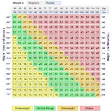 Body Mass Index Chart For Infants 58 Judicious Healthy Weight For A Teenage Girl Chart