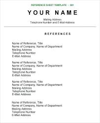How To Write A Reference On Resume Free Sample Resumes Online ...