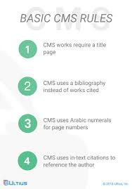 Cms Style Full Citation Guide Citation Styles Ultius