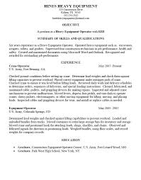 Heavy Equipment Operator Job Description Heavy Equipment Operator resume  sample