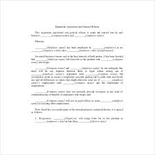 Business Separation Agreement Template Inspiration Separation Agreement Template 48 Free Word PDF Document Download