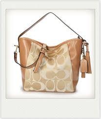 Coach Legacy In Signature Medium Khaki Shoulder Bags ANS
