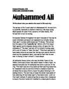my hero muhammad ali a level history marked by teachers com muhammed ali write about who you admire most in life any why