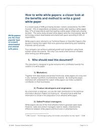 how to write a good white paper how to write white papers