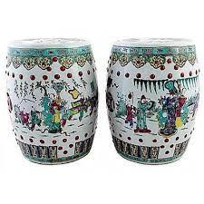 pair of antique chinese ceramic garden