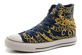 converse shoes blue and black. navy blue high tops converse gold chains chuck taylor all star sneakers, statement,converse sale slip on,100% quality shoes and black i