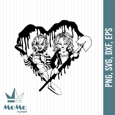 🎨 art supplies we love (amazon affiliate links). Chucky And Tiffany Svg Heart Svg Horror Movies Halloween Svg Hallo Momosvgstore