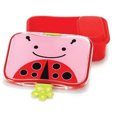 skip hop lunch box with an inner box ladybug
