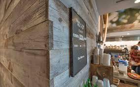 custom corner work laramie finish reclaimed wood accents on the interior
