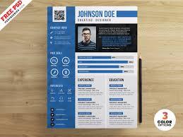 Creative Designer Resume Cv Psd Template Download Psd