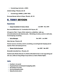 Cosmetologist Resume Template Wonderful Resume For Cosmetologist Sample Resume For Cosmetologist Cosmetology