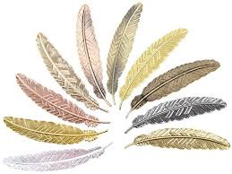Meeall 10pcs Different Color Vintage Feather Metal ... - Amazon.com