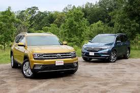 2019 Vw Atlas Trim Comparison Chart 2018 Volkswagen Atlas Vs 2017 Honda Pilot Comparison Test