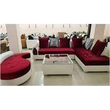 maroon white designer sofa set rs