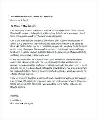 Reccomendation Letter Citybirds Club
