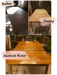 image of refinishing dining table without sanding