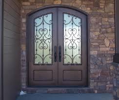Front Doors  Cool Wrought Iron Front Door  Wrought Iron Entry - Iron exterior door