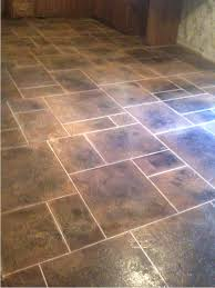 Stone Kitchen Floor Tiles Kitchen Floor Tile Patterns Concrete Overlay Random Pattern