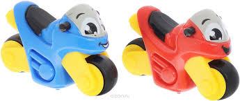 <b>Smoby Набор мотоциклов Vroom</b> Planet 2 шт цвет синий красный ...