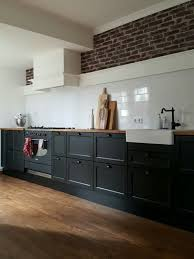 Big Kitchen Ikea Metod Laxarby Black 535m Long And 1m High