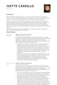 Regional Marketing Manager Resume Samples Visualcv Resume Samples