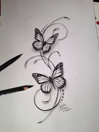 Butterflies Filigree Tattoo Design Tetování Tetování Motýl