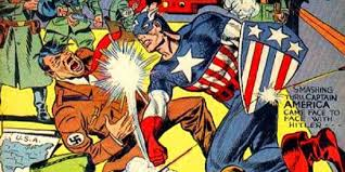Image result for captain america punch hitler