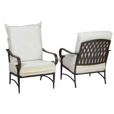 hampton bay oak cliff metal outdoor lounge chair bare cushion 2 pack
