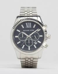 men s watches digital designer watches asos michael kors mk8280 watch lexington chronograph silver
