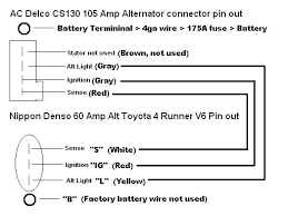 four pin alternator wiring diagram four diy wiring diagrams
