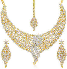 Buy Sukkhi Splendid <b>Gold</b> Plated Wedding <b>Jewellery</b> Austrian ...
