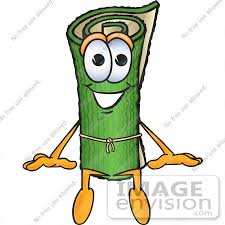 carpet installation clipart. #23268 clip art graphic of a rolled green carpet cartoon character sitting by toons4biz installation clipart i