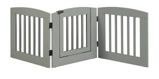expanding pet gate 3 panel expansion pet gate with door medium grey finish keepsafe wood expansion