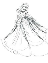 Wedding Dress Coloring Pages Carriembeckerme