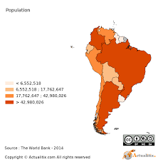 South America Population Chart 48 Described Amerca Population