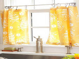 Kitchen Cafe Curtains Kitchen Cafe Curtains For Kitchen With Sunrise 3 Piece Printed