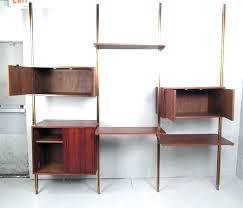 mid century wall unit desk mid century wall unit mid century modern teak modular wall unit