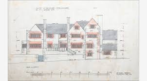 architectural drawings. Charles Rennie Mackintosh, Set Of Eight Architectural Drawings For Auchinibert, Killearn By G