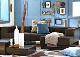 Brown And Blue Living Room Gorgeous Living Room Set Classic Blue Sofa And White Accent Pillows Brown End