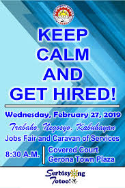 get ready geronians join us in trabaho negosyo kabuhayan jobs fair and caravan of services on february 27 2019