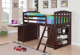 a lofted bed with storage beneath the top bunk is a great way to save space in a kid s room this twin bunk bed group includes a built in ladder a bookcase
