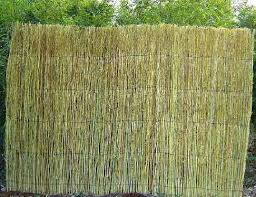 Bamboo twig fence Aged bamboo twig fence w/bamboo cap