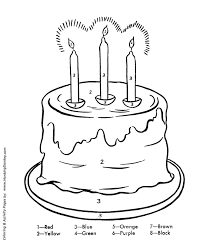 Birthday Coloring Pages Free Printable Kids Birthday Cake Coloring