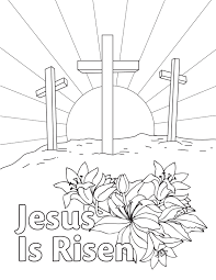 Free Easter Coloring Page Downloadable Printable From Aop Jesus Is