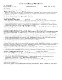 Army 88m Sample Resume Free Resumes Tips